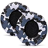 WC Wicked Cushions Upgraded Replacement Ear Pads for Beats Solo Headphones - Earpads for Beats Solo 3 & Solo 2 Wireless ON-Ear Headphones - Cloud Like Comfort - Extra Durable | Snow Camo