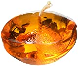Zest Candle 12-Piece Floating Candles, 1.75-Inch, Clear Orange Gel
