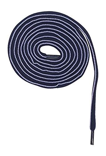 SofSole Schnürsenkel Schuhbänder Lace Zweifarbig Robust Reißfest I verschiedene Farben I 115 und 150 cm I 7-8 oder 8-9 Ösen (150, navy/hellblau)