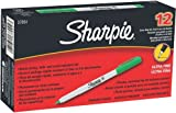 Sharpie Ultra Fine Point Permanent Markers, 12 Green Markers(37004)