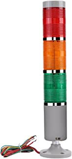 Beacon Alarm Light, 85dB Buzzer 3 Layers Industrial Signal Light Column , LED Alarm Round Tower Light ,Indicator Emergency Warning Light,for home or Industrial Security System