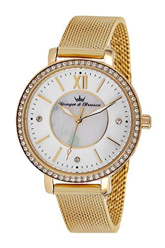 YONGER&BRESSON Femme Date Standard Quartz Montre avec Bracelet en Acier Inoxydable DMP 049S/BM