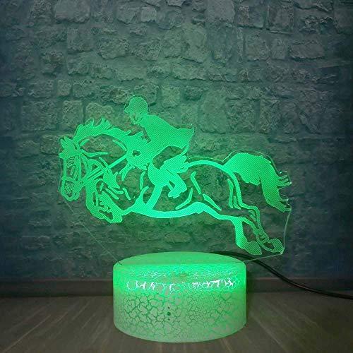 Lámpara De Ilusión 3D, Luz De Noche Led, 7 Colores, Lámpara De Escritorio Familiar Para Montar, Decoración Táctil De Lava, El Mejor Cumpleaños Para Niños