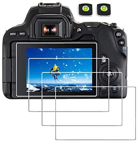Screen Cover Compatible Canon Eos Rebel SL2 SL3 200D 250D 200D II Kiss X9 X10 DSLR Camera,debous Tempered Glass 0.3mm 9H Hard Film (4pack)