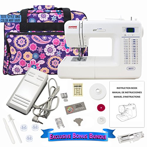SYS Score: 9.2 | Janome 8077 Computerized Sewing Machine Includes Exclusive Bonus Bundle