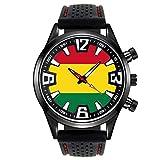 Bolivia Reloj para Hombre con Correa de Silicona