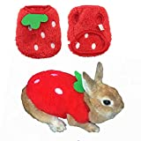 ANIAC Pet Costume Cute Rabbit Clothes Soft Bunny Vest Cozy T-Shirt for Kitten Ferret Chihuahua Puppy and Small Animals (2S(Chest Girth 10.6'))