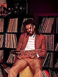 Strange Posters J. Cole Rapper Singer Songwriter Record Producer Multicolor 12 x 18 Inch Poster SPJC191