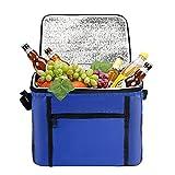 Sac-Glacière Cooler Bag,Sac de Repas 10L,Glaciere Souple Isotherme Grande,Capacité Lunch Bag pour Déjeuner,Sac a Dejeuner pour Plage,Sac Fraîcheur Portable,Sac Repas pour Travail/Ecole/Plage
