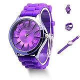 Fmingdou Gift Fashion Unisex Jelly Gel Quartz Sports Wrist Watch Geneva Silicone Rubber