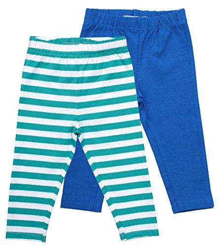 Toby Tiger - Leggings Bébé fille Organic Leggings Pack Blue - Bleu (Blue) - 24 mois