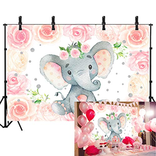Sensfun Girl Birthday Backdrop for Party Photoshoot Princess Theme Rose Flower Background for Girl Kids 1st Birthday Baby Shower Party Decoration Cake Table Banner Supplies 7x5ft