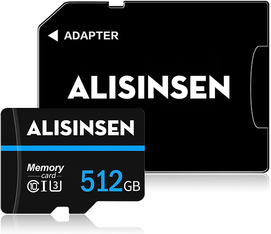 Micro SD Card 512GB SD Memory Card with a SD Card Adapter,Class 10 TF Memory Card 512GB High Speed for Smart-Phone,Camera,PC,Mac