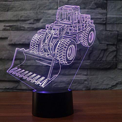 3D Slideshow Excavator 3D Illusion Lampe - Dekorationslampe Mit Drei Mustern Und 7 Farben - Perfekte Geschenke Für Kinder