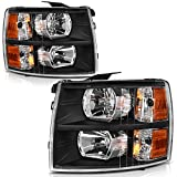 AUTOSAVER88 Headlight Assembly Compatible with 2007-2013 Chevy Silverado 1500/2007-2014 Si...