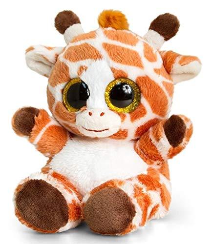 Kuscheltier Giraffe - Plüschtier mit strahlenden glubschi Augen - 15cm hoch