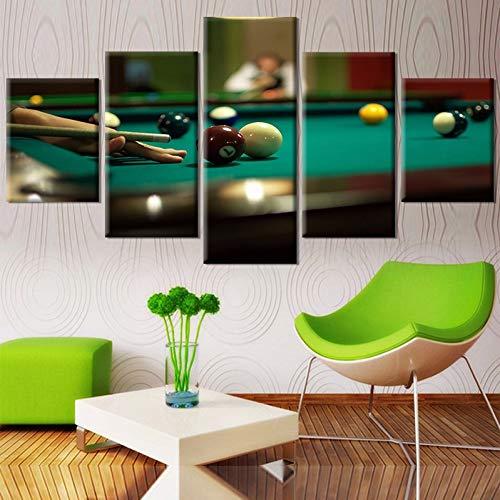 MMLFY 5 aufeinanderfolgende Gemälde Leinwand Poster Wandkunst HD Gedruckt Foto Moderne Wohnzimmer Dekor 5 Stücke Tischtennis Sport Malerei Modulare Bilder