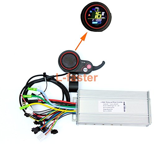 Electric Scooter LCD Display With Thumb Throttle Kit 400W-1000WElectric Brushless Hub Motor Controller With color LCD Battery Indicator (48V 800W/1000W Color screen kit)