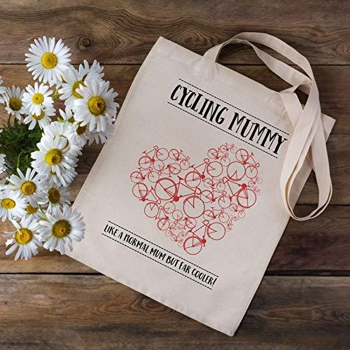 Fietsen Mummy Tas - Winkeltas - Fietsen Gift - Fietstas - Cadeau voor fietsers - Bike Shopping Bag - Cooler Cycling Mum