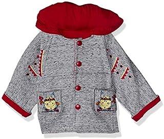 جاكيت بغطاء للرأس بجيوب مطرزة من الامام للاولاد من لوميكس - رمادي مرقش