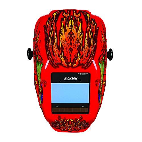 Jackson Safety Ultra-Lightweight Insight Digital Variable Auto Darkening Filter Welding Helmet, Nylon, Halo X, Flaming Butterfly, Universal Size, 46109