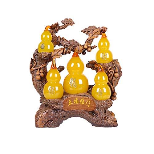 Escultura Decorativa Decoración de la calabaza Lucky Home Sala de estar Cabineta TV Gabinete de vino Oficina Hulu Decoración Decoración de la inauguración de la apertura Feng Shui Treasure Decoración