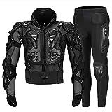 Motorrad Schutzpanzer Motocross Körperschutz Motorrad Radfahren Gepanzerte Jacken + Gears Lange Hosen mit Rücken, Hüften Beine (Mittel) Schutz,XXXXL