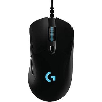 Logicool ロジクール ゲーミングマウス G403h ブラック HERO 16K センサー エルゴノミクス RGB 6個プログラムボタン 国内正規品 2年間メーカー保証