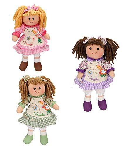 bambola camilla Betz Set di 3 Bambole di pezza Camilla grandezza 30 cm Diversi Colori
