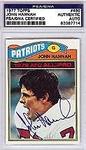 John Hannah Signed 1977 Topps Trading Card - PSA/DNA Authentication - Autographed NFL Football Memorabilia