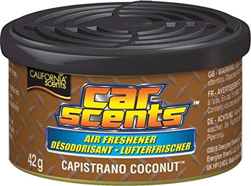 California Car Scents - Désodorisant Parfum Noix de Coco Capistrano pour Voiture/Maison/Van/Bureau/Taxi, Lot de 6