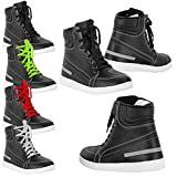Best Motorcycle Boots - VASTER Motorcycle Men's Rider Shoes Motorbike Leather CE Review