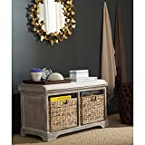 Safavieh American Homes Collection Freddy Brown Wicker Storage Bench