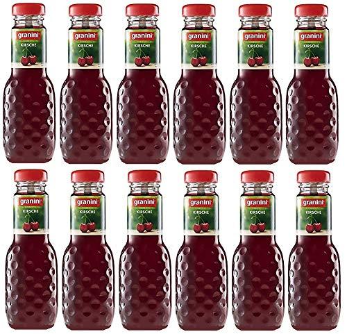 12 Flaschen a 200ml Granini Kirsch Fruchtgehalt 40% in MEHRWEG Pfand Glas Flaschen Kirschen Trinkgenuss