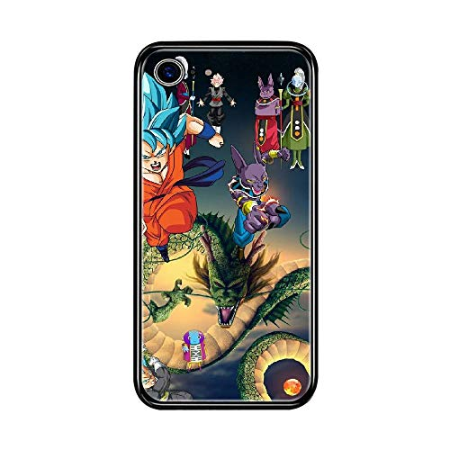 RO&CO Funda iPhone 7 / iPhone 8 4.7 Inch Case Dragon Ball Son Goku Black Silicone Soft Case J-046