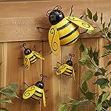 Decoraciones de abejorro de metal, decoración de abejorro retro de jardín, valla de jardín, decoración de arte de hierro 3D, decoración de jardín, dormitorio, decoración de abejorro
