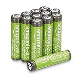 Amazon Basics - Batterie AAA ricaricabili, ad alta capacità, 850 mAh (confezione da 12), pre-caricate