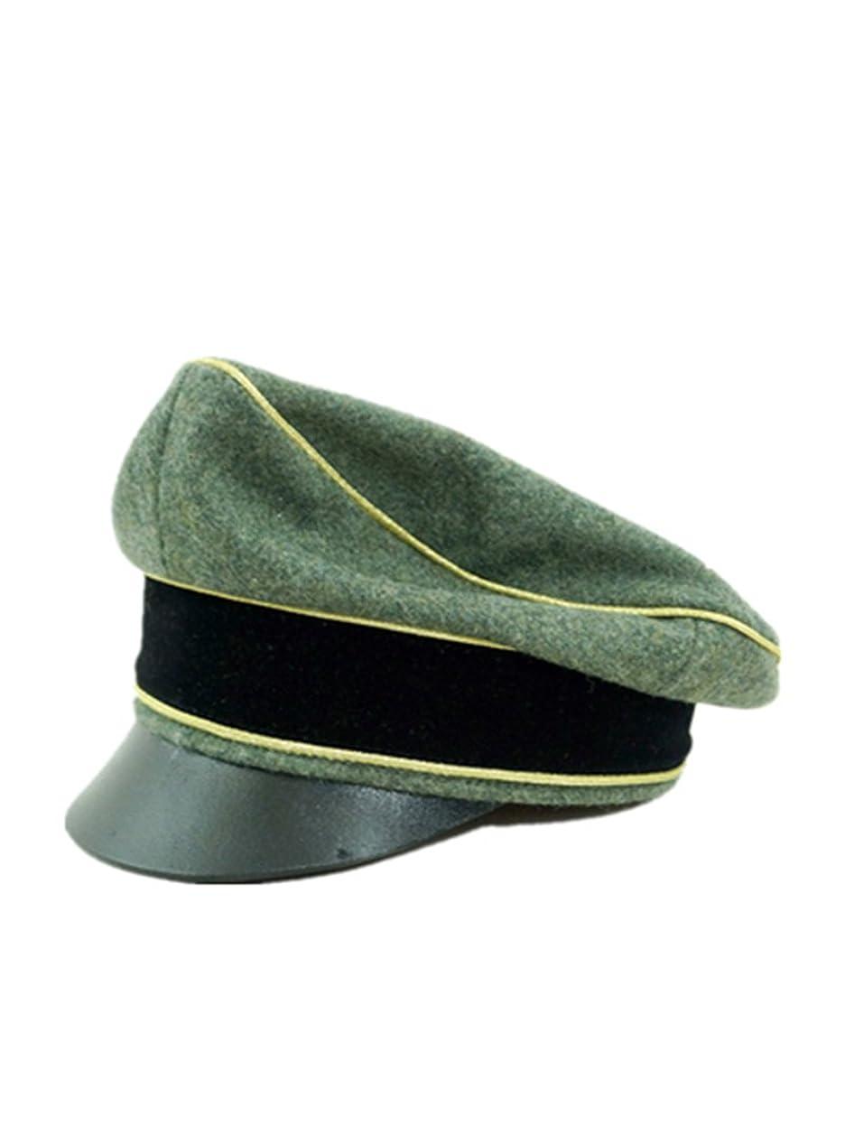 プライム最初第二に第二次世界大戦 ドイツ軍 武装したエリート将官用クラッシュキャップ ウール材料 -61