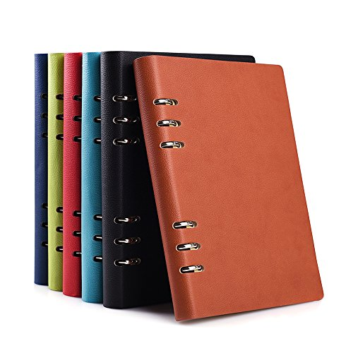 Zhi jin A5Loose Pocket cover rigida in pelle ricaricabili anelli notebook Gazzetta diario Bussiness Blue