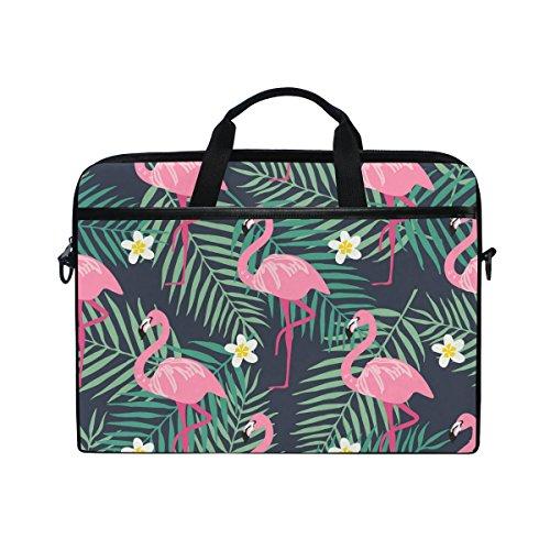 Laptop Case Sleeve Flamingo Laptop Shoulder Messenger Bag for 13 inch to 15 inch with adjustable Notebook Shoulder Strap