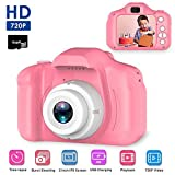 Digitale Kamera für Kinder, Womdee Mini Farbdisplay 8 Megapixel Kinderkamera 1080P HD Kinder Digital-Camcorder für Baby Geschenk Spielzeug 3 4 5 6 7 8 Jahre (Pink, mit 16GB TF-Karte)