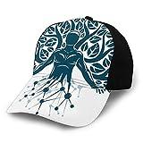 Gorra de béisbol lisa lavada, figura humana abstracta, ciencia, ecología, tecnología y equilibrio de la naturaleza, retro ajustable, regalo para hombres y mujeres