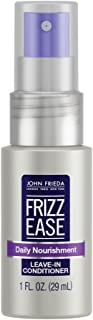 John Frieda Frizz Ease Daily Nourishment Leave-in Conditioner for Frizz-prone Hair with Vitamin A, C, and E, Color White, ...
