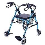 YEESEU. Mit Fußpedal Walker for ältere Menschen Warenkorb Travel Trolley Can Sit Folding Rollator...