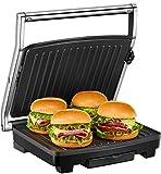 Deik Grill electrico, Sandwichera Antiadherentes 2000W Calentamiento rapido con Capacidad para 4 Sándwiches Tostadoras, Temperatura Regulable, Piloto Indicador Luminoso