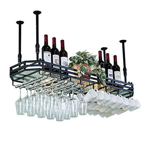 Botellero para colgar en la pared, para copas de vino o bar, creativo, soporte para bebidas en la cabeza, estante para decoración de techo para bares, restaurantes