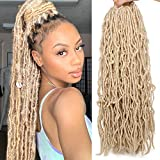 24 Inch 6 Packs Blonde Nu Faux Locs Crochet Braids Hair 21 Strands Synthetic Hair Pre-Looped Crochet Braids Knotless Style Most Natural African Roots Hair Extensions (24 Inch, 613#)