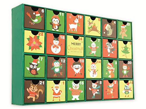 Unbekannt Adventskalender, 390x250x65 mm, grün