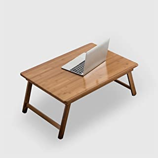 YD-Folding Table Portable Computer Desk - Wooden Folding Table - Outdoor Camping Garden - Dorm Beds - Collapsible Legs Table ∑ (Size : 60 * 40cm)