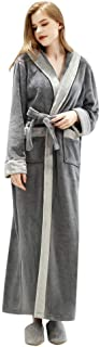 DEATU Winter Robes for Women and Men, Bathrobe for Teen Boys and Girls, Couples Loungewear Wrap Long Sleeve Nightgowns